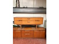 Beautiful 1970's unique reversed grain small sideboard. Absolute stunner and rare. Retro Vintage