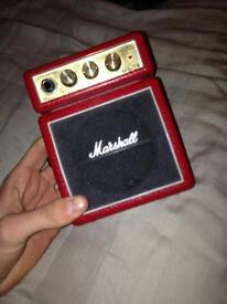 Small Marshall guitar amplifier