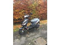 2014 Longjia 50cc moped - 2 Miles from new- 12 Months mot