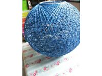 Round Dark Bright Blue Lantern Shades Lamp