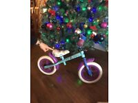 Frozen balance bike