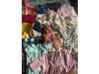 Girls bundle off clothes.