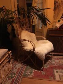 Bamboo wicker chair