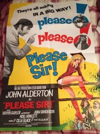 Please Sir Poster and Lobby Cards