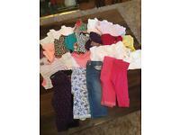 Girls clothes & snowsuit bundle age 6-9 months