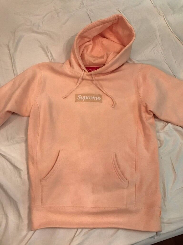 267dad49a15a Supreme Box Logo FW16 Peach Hoodie - 100% New With Tags Genuine Item -  Happy To Post - Hypebeast