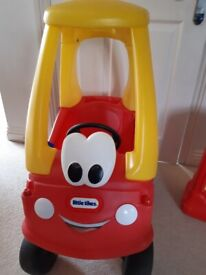 Little Tikes cosy (cozy) coupe car and petrol pump