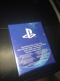 PlayStation plus 14 day trial fifa ultimate team rare players pack and 3 icon loan players