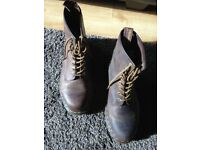 Brown Leather Doc Marten's Boots - Original Price £75 selling for £50
