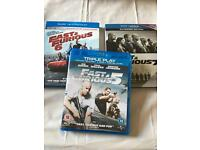 Fast and Furious 5,6,7 Blu ray