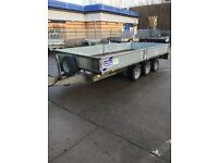 Tri Axle trailer 14 x 6'6 with ramps