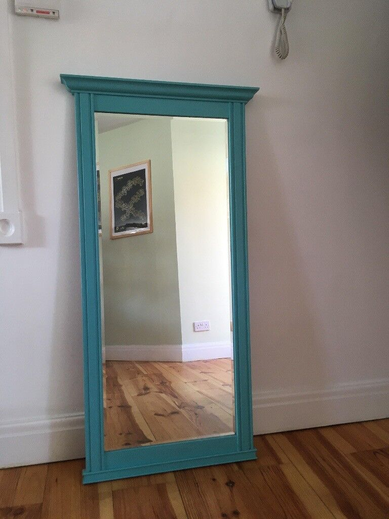 Large Painted Timber-Frame Mirror