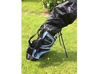 Dunlop MX II golf clubs and bag