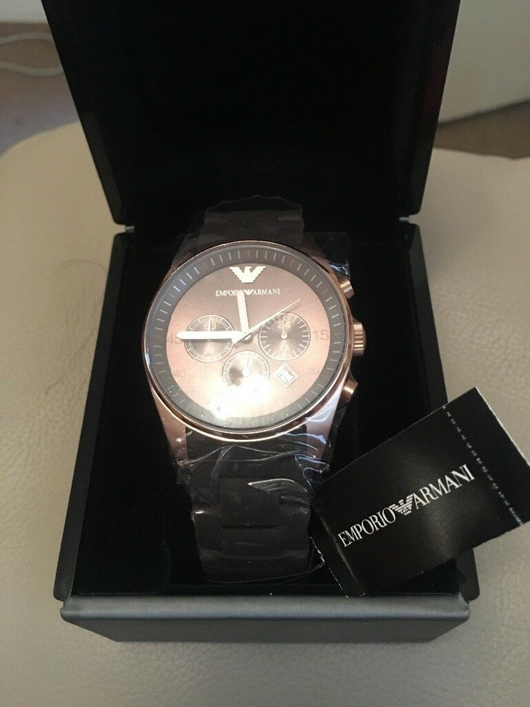 EMPORIA ARMANI AR5890 GENTS WRISTWATCH: NEW