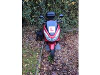 Reliable & Economical HONDA PCX125 2016 for sale. Learner legal. Bought new for £2600