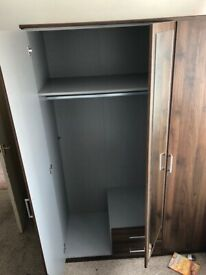 Nice mahogany coloured wardrobe - great condition!