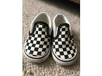 Vans toddler checked shoes size UK 3.5