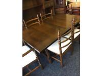 Solid oak table and 6 chairs can deliver
