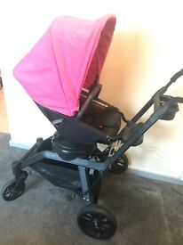 Orbit G3 Pram pushchair excellent condition bassinet inc with add stand and extras included