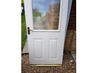 Two Wooden Doors and one with Glass Panel