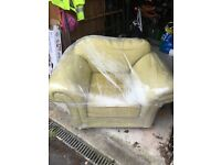 Sage coloured arm chair - newly new