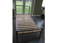 Dreams Metal Single Bed Frame in Silver /Grey