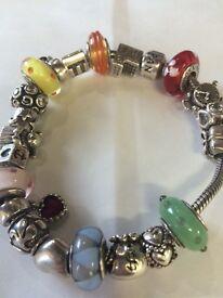 Pandora bracelet. Perfect condition. £600 worth charms