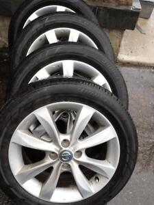 NISSAN VERSA  HIGH PERFORMANCE BRIDGESTONE ALL SEASON TIRES  195 / 55 / 16 ON FACTORY ALLOY RIMS