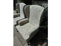 TWO ARMCHAIRS BY HSL - 'BUCKINGHAM COMFORT CHAIR' - GREAT CONDITION - WILL SELL SEPARATELY