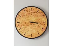 Stunning Large Marble Look Wall Clock 50cm