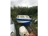 Boat trailer and 40 Hp
