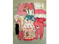 0-3 Baby Girl Clothes Bundle