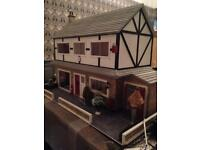 3 Traditional Wooden Doll's Houses plus furniture