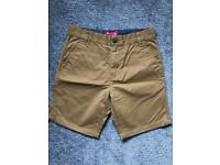 Next chino shorts stone - used once - age 13