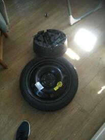 Continental space saver spare wheel and tool kit. £50.