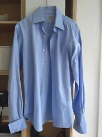 "Mens Shirt T M Lewin 15"" double cuff"