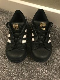 Adidas superstar trainers. Size 13.