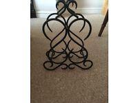 Cast iron wine rack