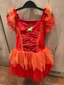 Orange and red fairy dress