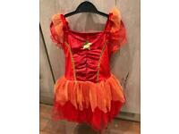 Orange and red fairy dress