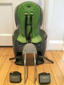 Hamax rear child seat with attachment for two bikes