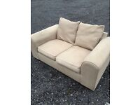 Lovely 2 Seat Seat Beige Sofa. Excellent Condition. Can Deliver.