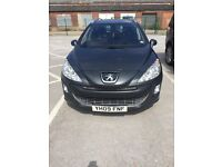 Peugeot 308SW - 09 plate diesel estate with glass panoramic roof, FSH, MOT till Dec 17