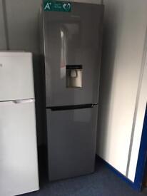 Hisense Silver Fridge Freezer with Water Dispenser