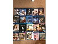 Collection of over 20 blu rays including Planet Of The Apes, Muppets, Titanic, Ted.