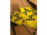 350+ BABY ON BOARD SIGNS JOBLOT