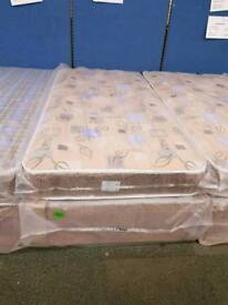 Robin light brown quilted single bed