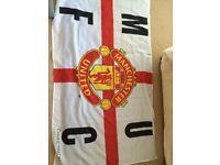 Man Utd Manchester United Accessories Job Lot. Clock, duvet, pendant, flag, jigsaw, cushion, bootbag
