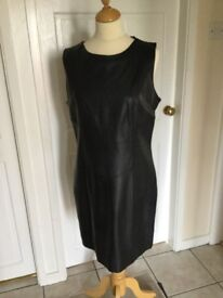 Black leather dresssize 16