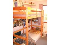 IKEA LOFT BED SOLID PINE GREAT CONDITION